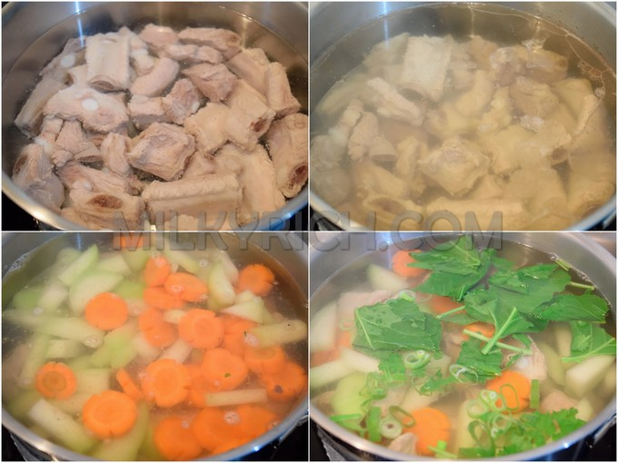 3- nấu canh sườn su hào