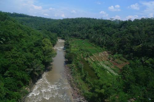 Train from Yogyakarta to Bandung, Indonesia