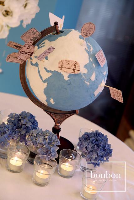 地球儀+燭杯-天藍色-01