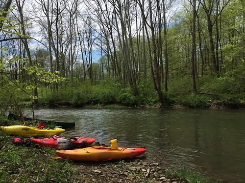 Kayaking Shermans Creek, May 7, 2016