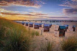 תמונה של Tiki Beach חוף חולי. sunset beach landscape balticsea rügen ostsee göhren