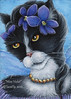 Violet Fairy Cat Painting