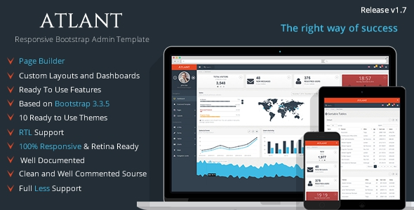 Atlant v1.7 - Bootstrap Admin Template with Frontend