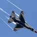 Pulling G's, Vapor, & Smoke - 'Thunderbird Style' overhead on Practice Day at Toledo by p.csizmadia