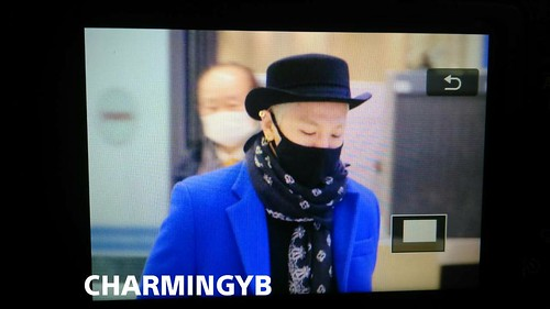Tae Yang - Incheon Airport - 11jan2015 - Charming YB - 04