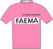 Faema - Giro d'Italia 1968 - La maglia rosa del vincitore Eddy Merckx