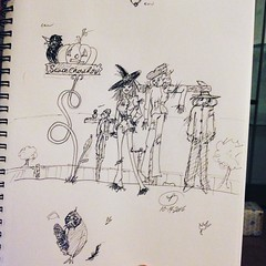 #scarecrowrow was todays theme for #drawlloween2016. I guess I cant draw birds cause non of these damn #crows turned out. Im tempted to color this one but, I dont wanna ruin it. #inktober2016 #inktober#drawlloween#ink #scarecrow#halloween#fall#2016#oc