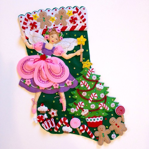 Sugar Plum Fairy Felt Stocking