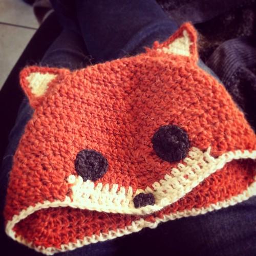 Fox hat (sly Fox hat, goodknits.com ) #crochet #hat