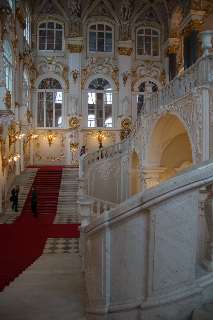Grand staircase Inside the Hermitage
