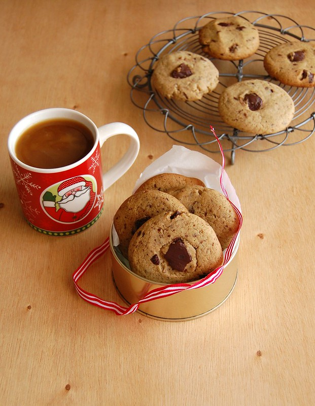 Choc chip gingerbread cookies / Cookies de gingerbread e gotas de chocolate