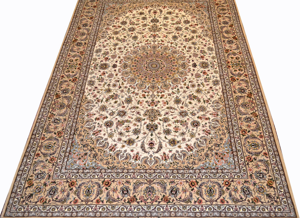 Pair Isfahan Esfahan Kaf Abrisham 7x10 persian Fine Area Rug (19)