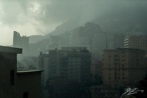 city cloud mist storm france rain fog architecture buildings french landscape riviera cityscape sony côte monaco carlo monte thunder dazur a7r sel2470z