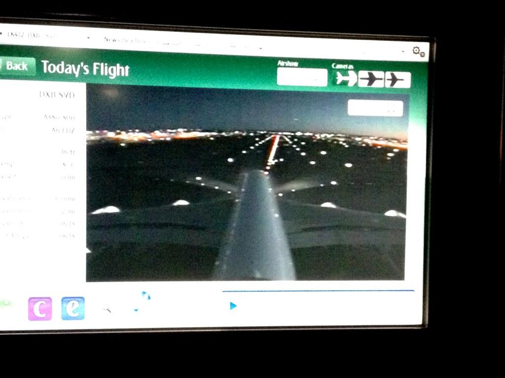 Cockpit view of landing in Sydney