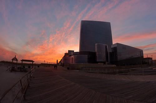sunset newjersey casino shore atlanticcity boardwalk revel