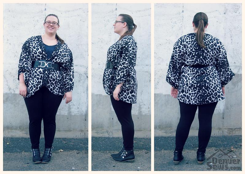 Simplicity 1318 Leopard Print Kimono - Collage