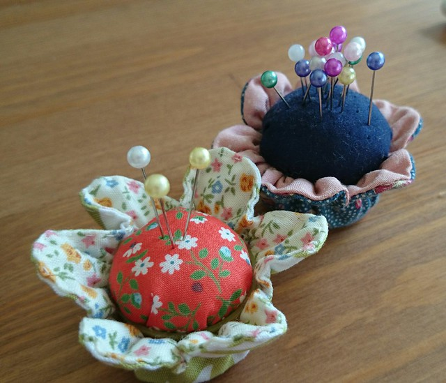 Finished Bottle Top Pin Cushion