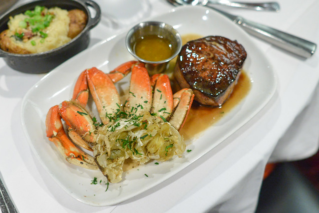 surf & turf half crab & filet mignon