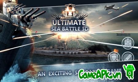 Ultimate Sea Battle 3D v1.3 hack full tiền cho Android