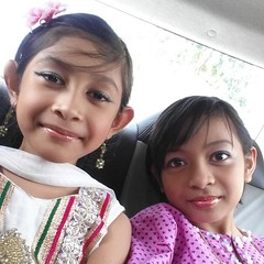 """""""My Umaira Najadis"""" #blessed #gratitude #daughters #PunjabiSuit #BajuMelayu #BelleRajWeds #latergram"""