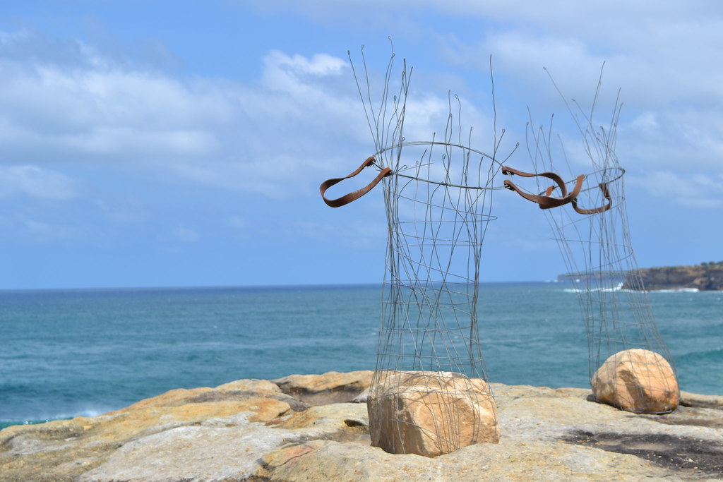 stone baskets, Sculpture by the Sea, Bondi