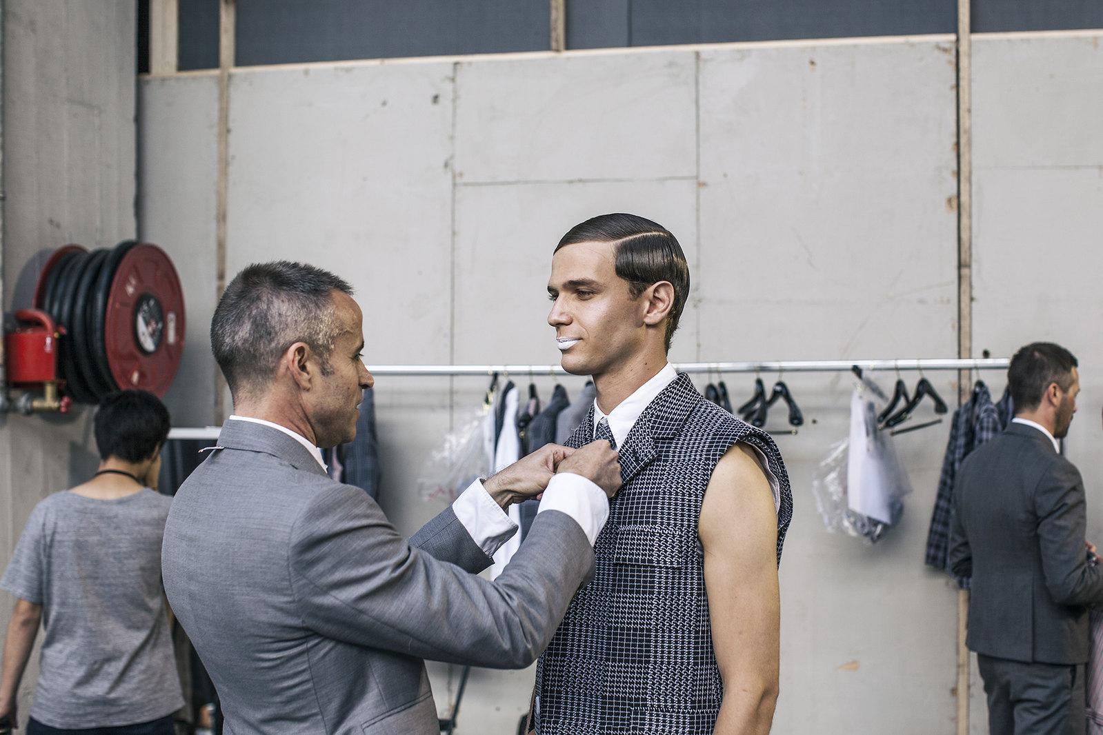 Thom browne 2015 backstage