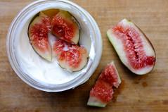 Yogurt with Fig from Britt's backyard