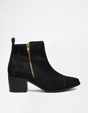 asos faith sibu pony effect flat boots