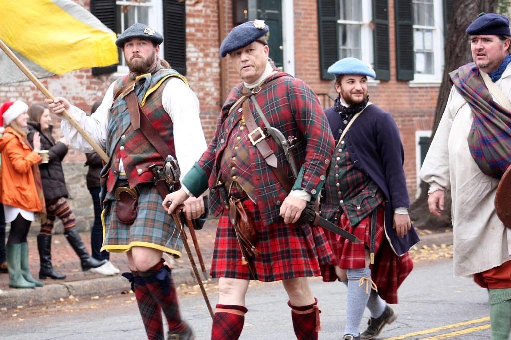Scottish Parade Men in Kilts