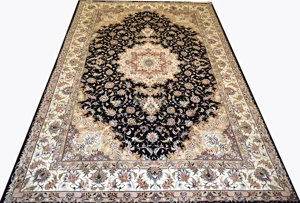 Black Taghizadeh Tabriz Persian Area Rug 7x10