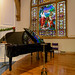 Piano and North Stained Glass Window