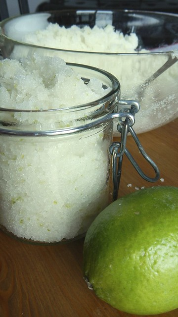 Coconut Lime Sugar Scrub 9