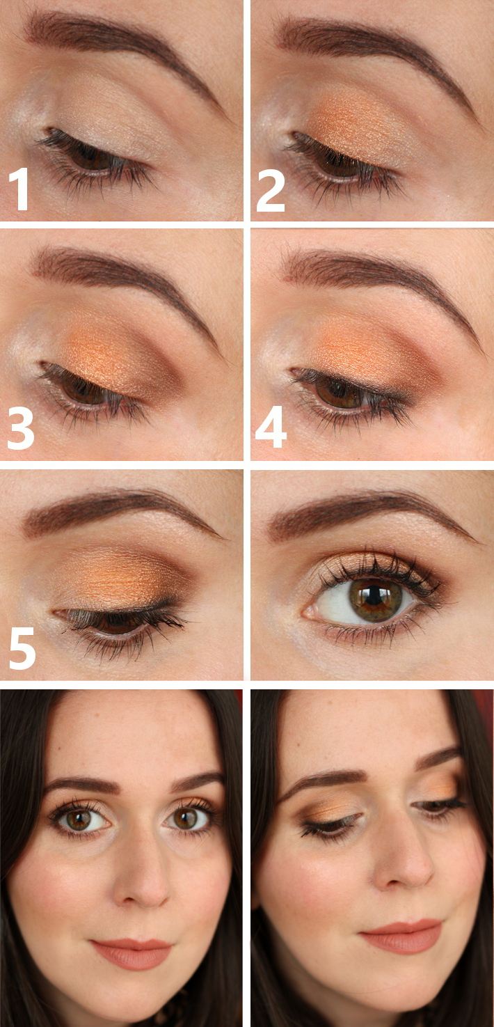 tutorial eye make up copper bronze gold