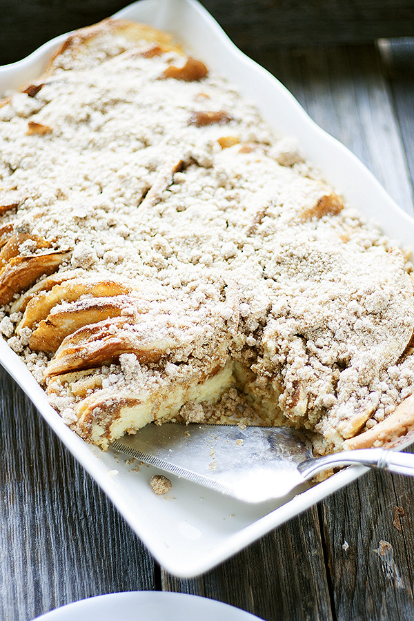 this easy overnight pancake casserole is perfect for breakfast or brunch