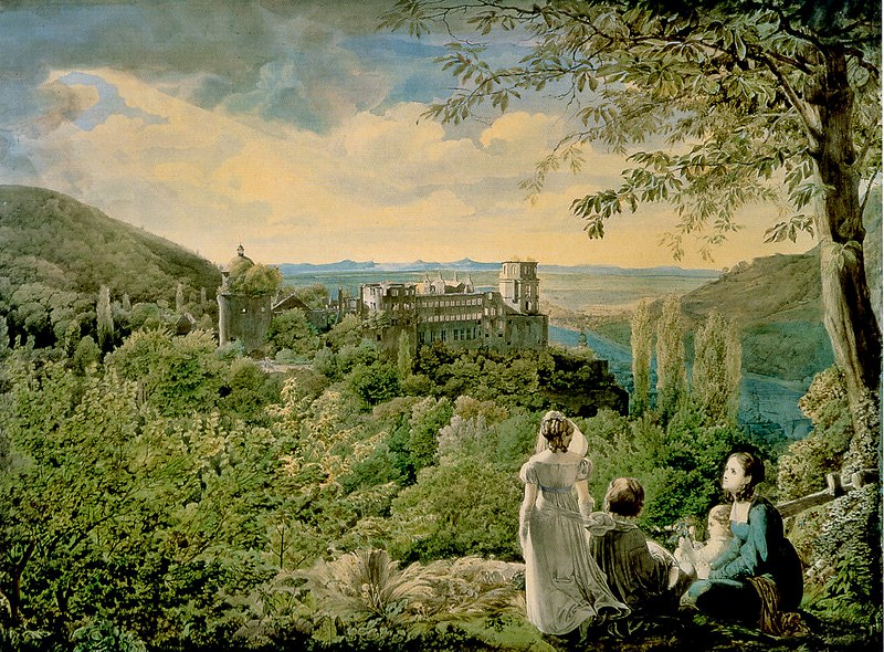 Karl Philipp Fohr - Heidelberger Schloss