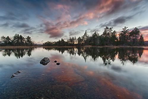 sunset reflection water novascotia ns shubie shubiepark lakemicmac darmtouth