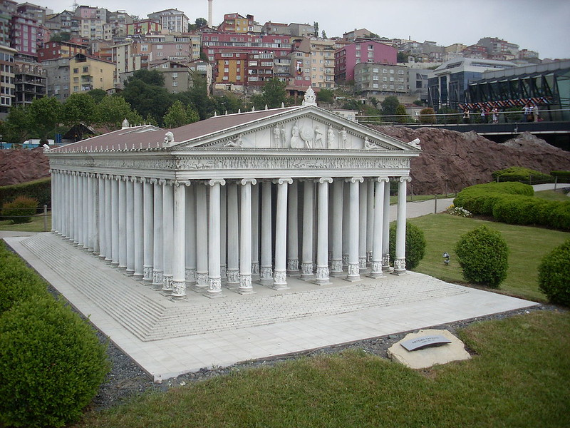 Temple of Artemis at miniature park Miniatürk