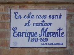 Photo of Enrique Morente white plaque