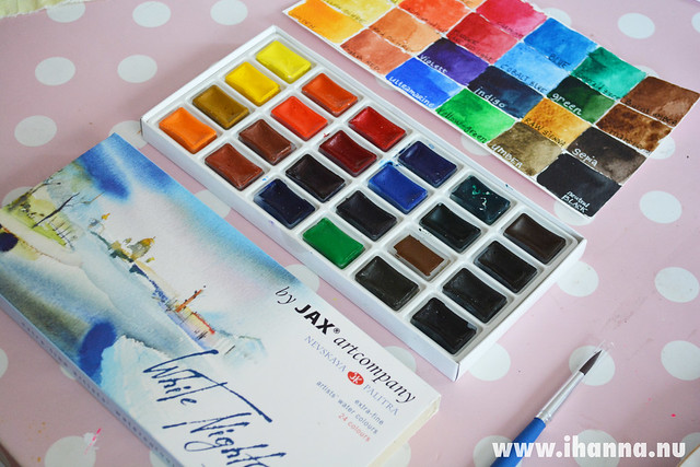 White Nights watercolor Swatches by iHanna