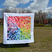 """Rainbow """"Cumulative Effect"""" Quilt by staceyomalley"""