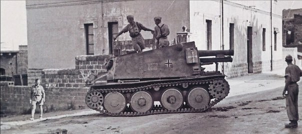 Self-propelled artillery installation of the Geschützwagen 38 (t) für s.IG.33/2 (Sf) (SdKfz 138/1 Grille)