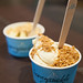 Our sundaes - Pistachio and Honey Fig gelati topped with amaretti crumble and Toasted marshmallow and brown butter gelati topped with toffee bits