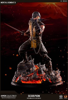 Pop Culture Shock Collectibles 真人快打系列【魔蠍】Scorpion 1/4 比例全身雕像