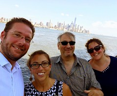Enjoying the view from Hoboken with Mithra, Frank & @guentheralex
