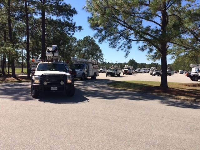 Convoy of Trucks leave Ellabell, GA on 10.13.16