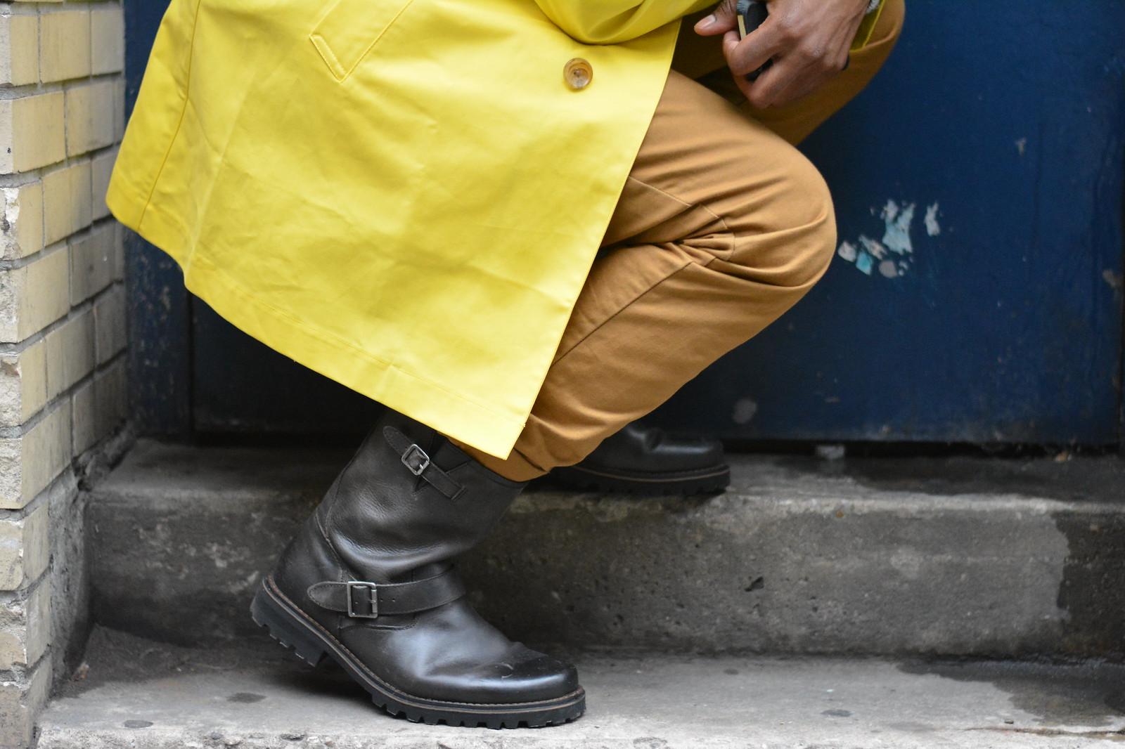 yellow jacket - menswear