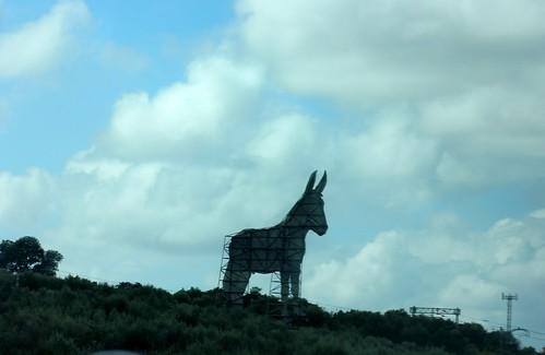 Donkey sign, Andalucia, Spain