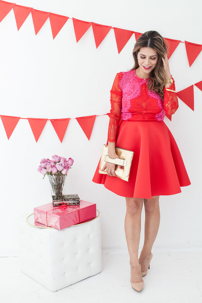 holiday outfit red asks dress hayden harnett Diane von Furstenberg Bethany what to wear to holiday parties red dress corporate catwalk fashion blogger holiday themes red and pink asos scuba dress Diane von Furstenberg Bethany jessica mcclintock clutch hair blogger