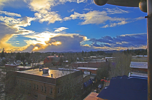 sunset christmaseve mcmenamins mcminnville hoteloregon rooftopbar
