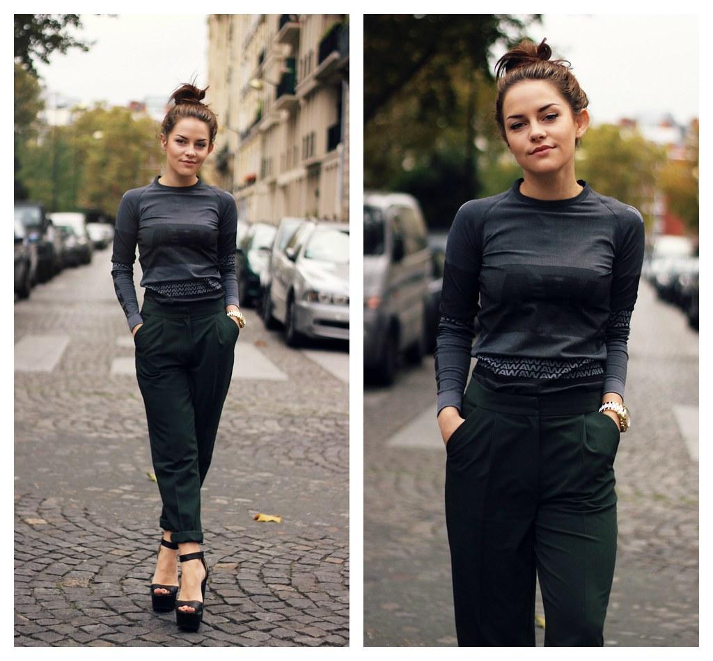 Alexander Wang for H&M grey stripe dress 6